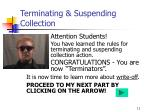 terminating suspending collection11