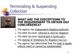 terminating suspending collection6