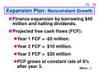 expansion plan nonconstant growth