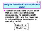 insights from the constant growth model