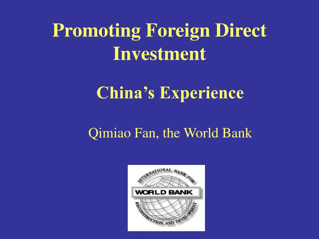 promoting foreign direct investment l.
