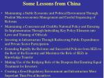 some lessons from china
