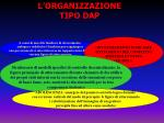 l organizzazione tipo dap
