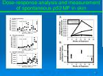 dose response analysis and measurement of spontaneous p53 mf in skin