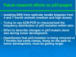 future research efforts on p53 project
