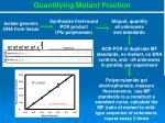 quantifying mutant fraction