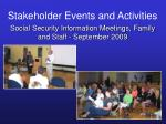 stakeholder events and activities34