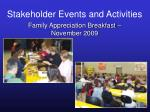 stakeholder events and activities37