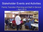 stakeholder events and activities38