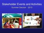 stakeholder events and activities45