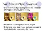 goal discover object categories