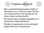 problems with plsa