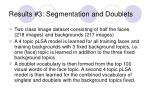 results 3 segmentation and doublets
