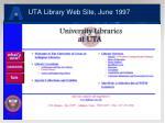 uta library web site june 1997