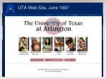 uta web site june 1997