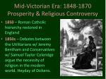 mid victorian era 1848 1870 prosperity religious controversy