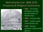 mid victorian era 1848 1870 prosperity religious controversy8