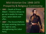 mid victorian era 1848 1870 prosperity religious controversy9