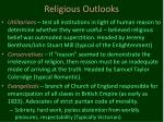 religious outlooks