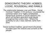 democratic theory hobbes locke rousseau and rawls