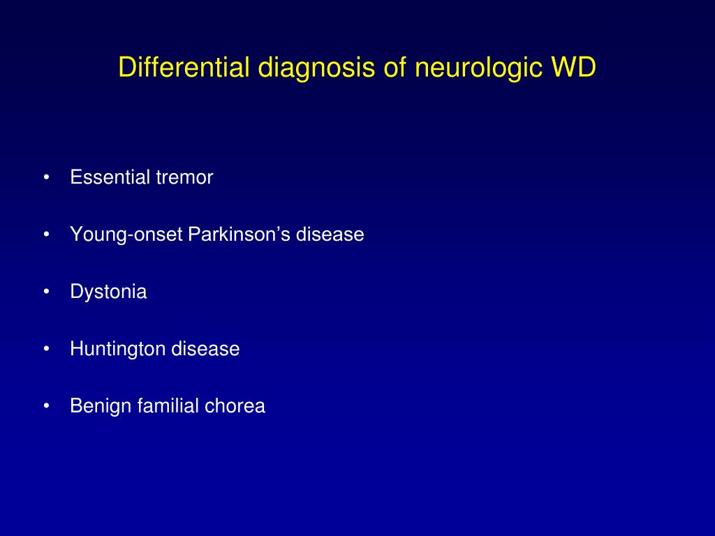 Ppt Neurological Manifestations Of Wilson S Disease