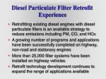 diesel particulate filter retrofit experience