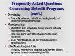 frequently asked questions concerning retrofit programs cont40
