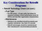 key considerations for retrofit programs37