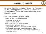 january 17 th 2008 itib