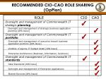 recommended cio cao role sharing opplan