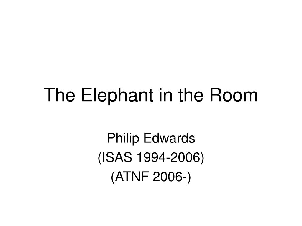 the elephant in the room l.