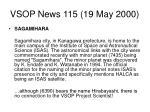 vsop news 115 19 may 2000