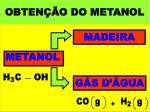 obten o do metanol