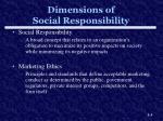 dimensions of social responsibility