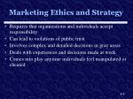 marketing ethics and strategy