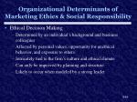 organizational determinants of marketing ethics social responsibility