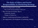 the role of ethics and social responsibility in marketing strategy