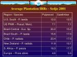 average plantation irrs sedjo 2001