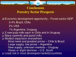 conclusions forestry sector prospects