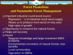 forest plantations and sustainable forest management
