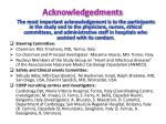 acknowledgedments