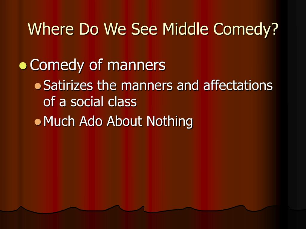 Where Do We See Middle Comedy?