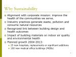 why sustainability