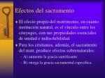 efectos del sacramento