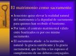 el matrimonio como sacramento