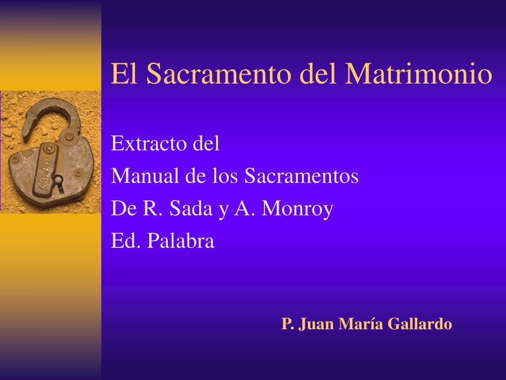 el sacramento del matrimonio l.