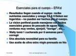 esenciales para el cuerpo efa sl