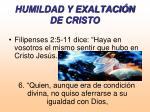 humildad y exaltaci n de cristo