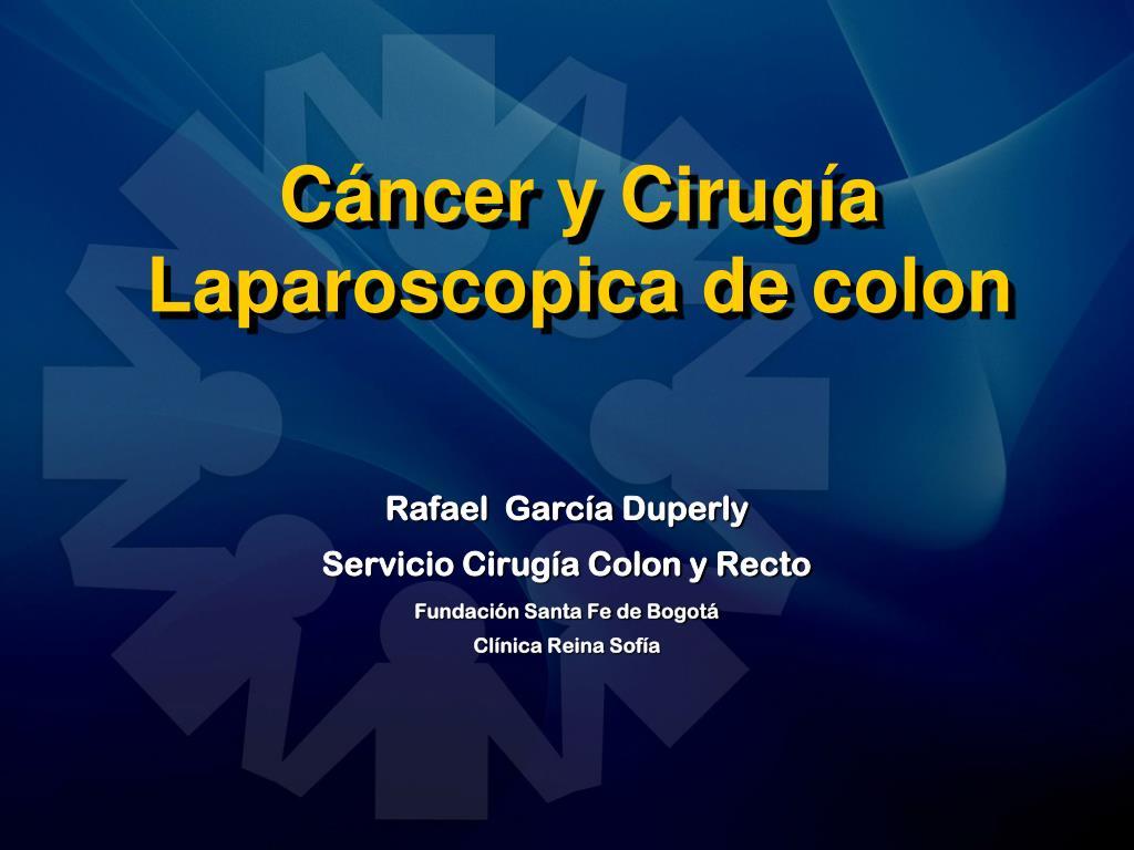 c ncer y cirug a laparoscopica de colon l.