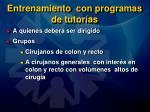 entrenamiento con programas de tutor as55
